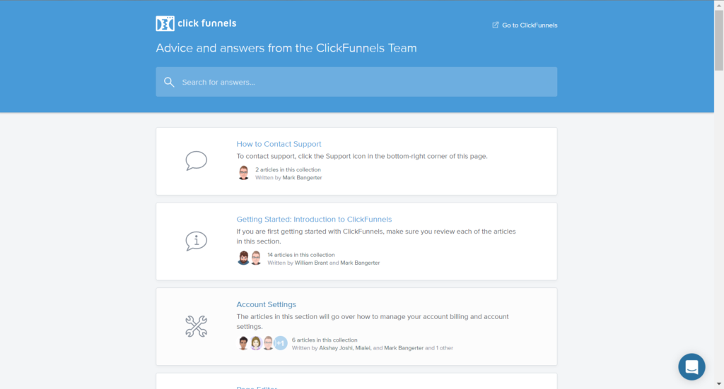 clickfunnels customer support