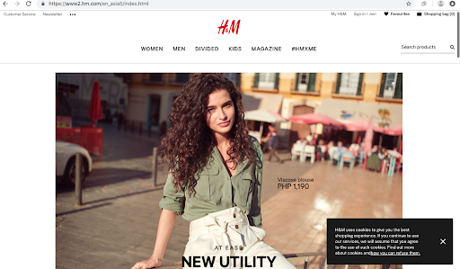 H&M remarketing ad