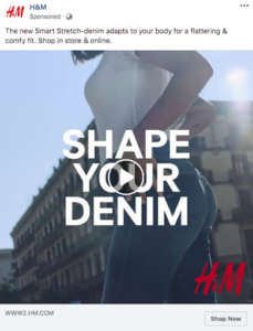 H&M retargeting ads