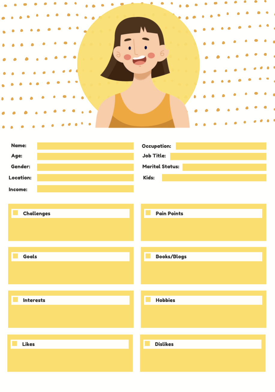 customer avatar to create a simple marketing plan