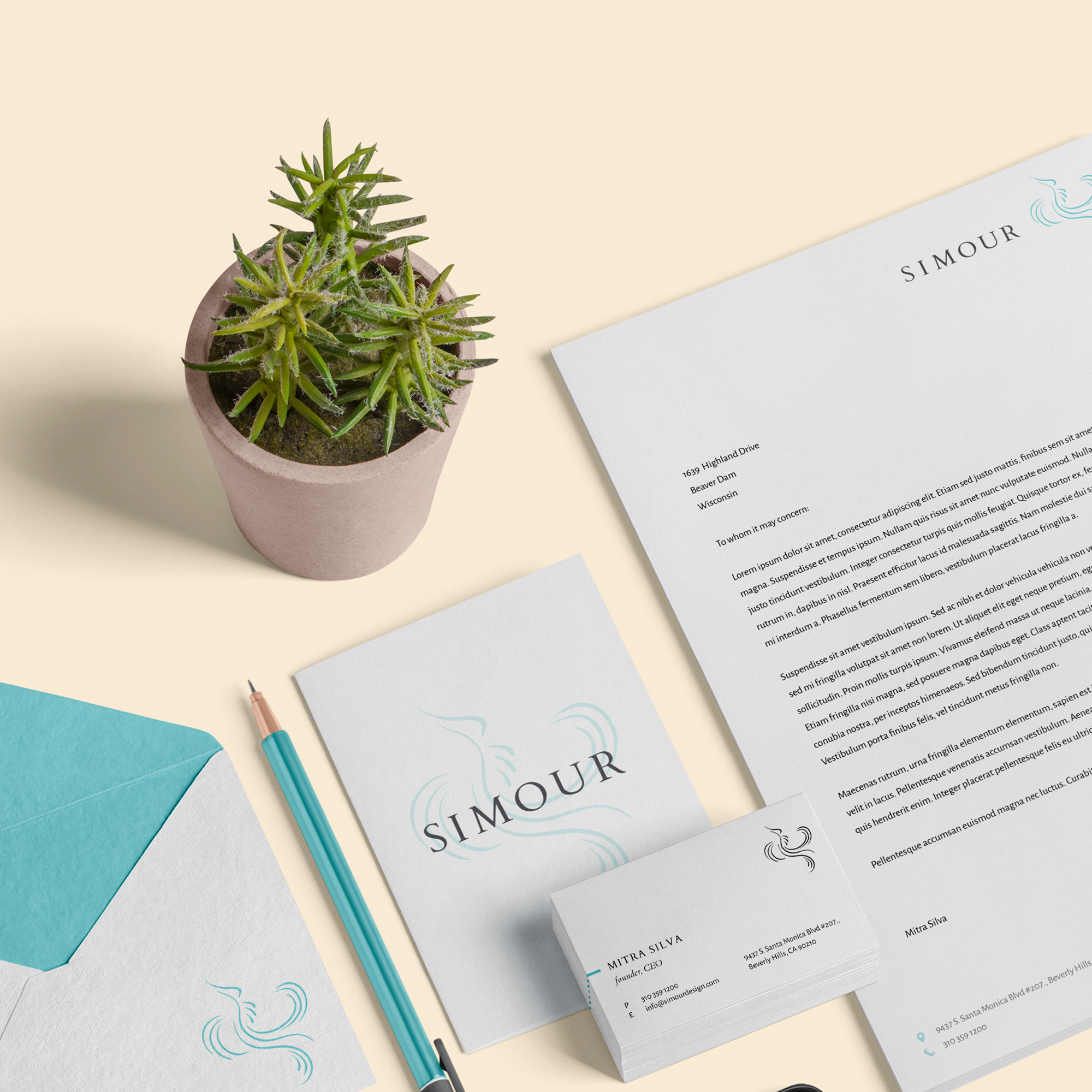 stationary by a creative agency