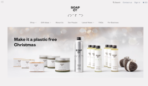 the soap co ecommerce website design