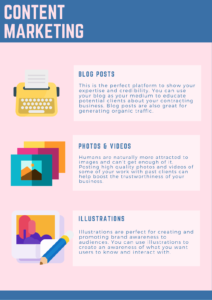 Content Marketing tips infographic