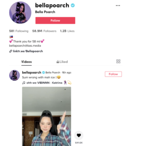 TikTok Marketing Influecer Bella Poarch